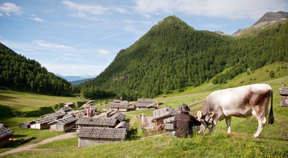 The high mountain village of Malga Fane: like coming from a past age