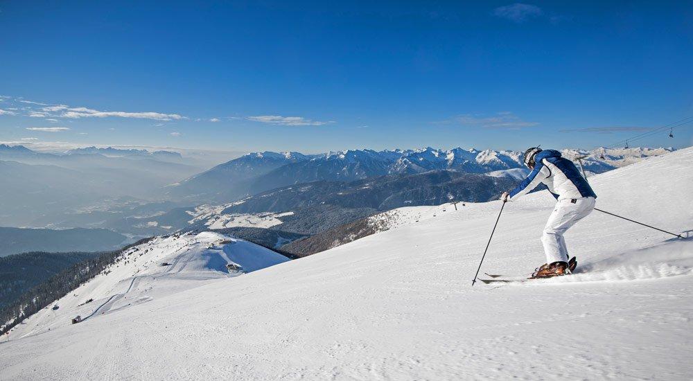 Beautiful ski-runs, as far as the eye can reach